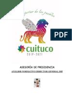 ANALISIS NORMATIVO PROCURADURIA DE DEFENSA DEL MENOR Y LA FAMILIA