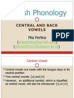 English phonology central and back vowel