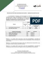Lista DEFINITIVA dos projetos aprovados e nao aprovados  - D