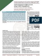 Design and Development of Effervescent Floating Tablet Dapagliflozin