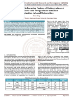 Analysis on the Influencing Factors of Undergraduates Willingness to take Postgraduate Entrance Examination in Local Universities