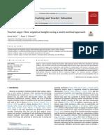 Buric & Frenzel (2019) Teacher anger-New empirical insights using a multi-method approach