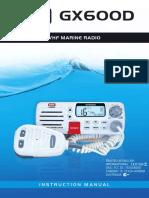 GME VHF  gx600d_manual