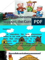 using assessment to support the curriculum
