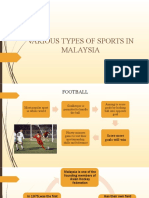 VARIOUS TYPES OF SPORTS IN MALAYSIA ENGLISH AINUR F5