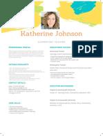 colorful creative resume