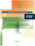 Programme TICE-PRIMAIRE-Novembre 2014
