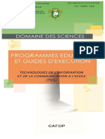 Programme TICE-CAFOP - Novembre 2014