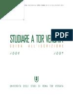 Guida all'Iscrizione Università Tor Vergata 2008-2009