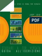 Guida all'Iscrizione a.a. 2009-2010 Università Tor Vergata