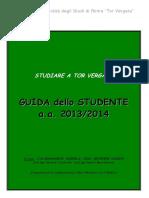 Guida dello studente 2013-2014 Università Tor Vergata