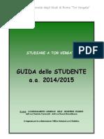 Guida dello studente 2014-2015 Università Tor Vergata