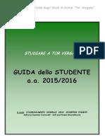 Guida dello studente 2015-2016 Università Tor Vergata
