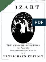 Mozart_Sei Sonatine