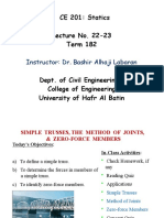 Statics, Lecture Notes, Chapter 6