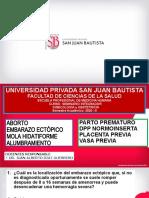HEMORRAGIA I y II MITAD EMBARAZO, ALUMBRAMIENTO, PARTO PREMATURO (1)