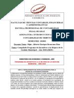 MEF-Programa Incentivos Mejora Gest. Municipal