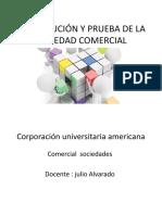SOCIEDADES-PRUEBA DE LA SOCIEDAD COMERCIAL DIAPOSITIVAS