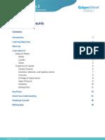Lesson 1.3 Properties of Liquids (Study Guide)