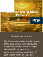 Turn-over Rite of Class Patrons