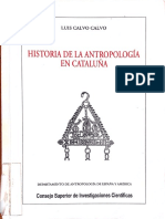 Calvo, Luis Calvo i. Historia antropologia Catalunya