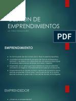 GESTIÓN DE EMPRENDIMIENTOS Y OPORTUNIDADES