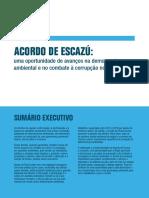 ACORDO de ESCAZÚ - Uma Oportunidae de Avanços Na Democracia e Combate a Corrupção No Brasil