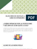 IVA en servicios digitales a cargo de extranjeros