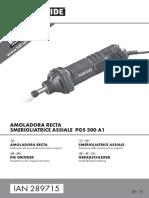 Manual Amoladora recta LIDL
