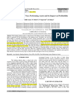 A Study on Analysis of Non -Performing Assets and its Impact on Profitability