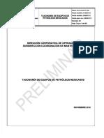 taxonomia de equipos pemex