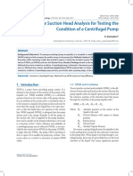 Net Positive Suction Head Analysis for Testing the Condition of a Centrifugal Pump. pdf