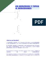 UN SERVIDOR Y TIPOS DE SERVIDORES