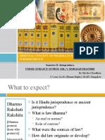 Oriental Concept of Dharma in Hindu Jurisprudence