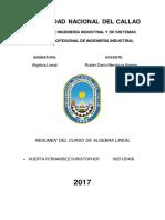 RESUMEN DE ALGEBRA LINEAL