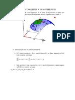 calculo 2 - PLANO TANGENTE A UNA SUPERFICIE