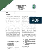 pruebas de español grado 5 periodo segundo 2019