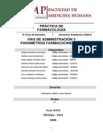 INFORME N°01 PRACTICO DE FARMACOLOGÍA
