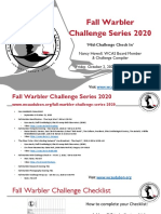 WCAS Presentation Fall Warbler Series 2020 Mid Challenge Check In