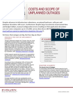 Evolven Insights Brief - Costs and Scope of Unplanned Outages