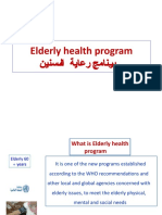 elderly program Presentation