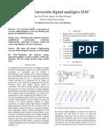 Informe practica 8 ; Conversor digital-analógico