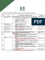 B301A Course Calendar Fall 2017-2018