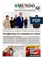 Entrevista Rajoy en El Mundo 30-1-2011 .