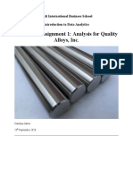 Individual Assignment 1- Analysis for Quality Alloys, Inc..docx