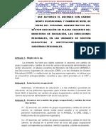 ASCENSO CON CAMBIO DE GRUPO OCUPACIONAL Y CAMBIO DE NIVEL DE CARRERA DEL PERSONAL ADMINISTRATIVO DEL SECTOR EDUCACIÓN