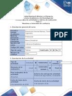 Guía de actividades y rúbrica de evaluación – Paso 2 – Muestreo e intervalos de confianza inferencia estadistica