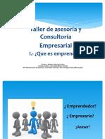 Presentación Taller de asesoria y consultoria empresarial