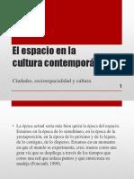 El espacio en la cultura contemporánea