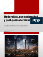3. Modernidad, posmodernidad y post-posmodernidad